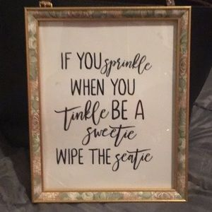 If u sprinkle when u tinkle bathroom picture
